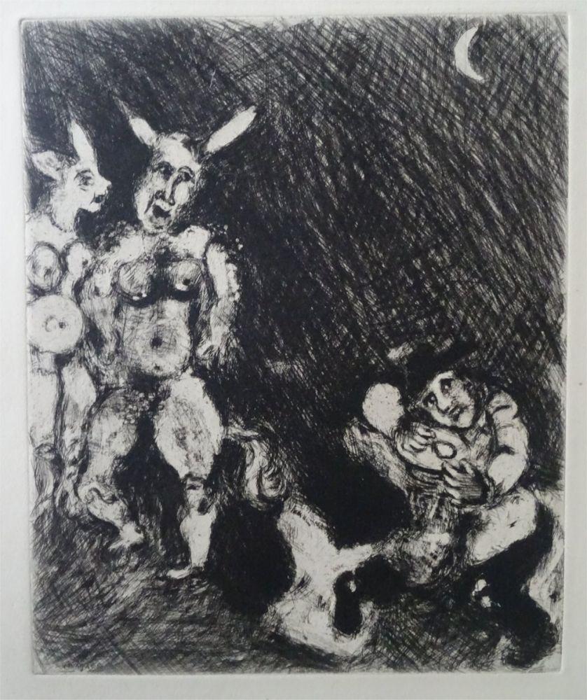 Acquaforte Chagall - Le Satyr et le passant