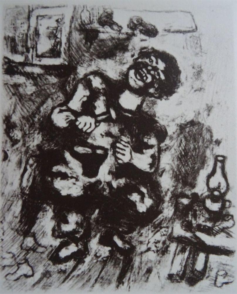 Acquaforte Chagall - Le Savetier et le Financier
