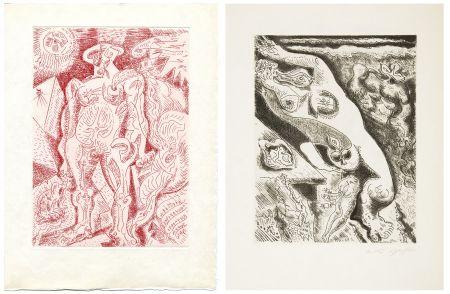 Libro Illustrato Masson - LE SEPTIÈME CHANT. 4 gravures originales (1974)