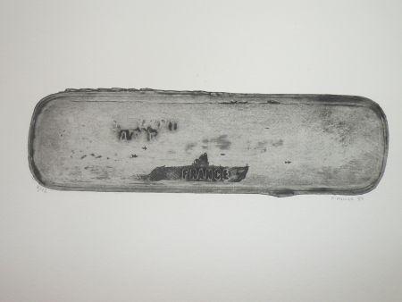 Acquaforte Favier - Le sous marin France