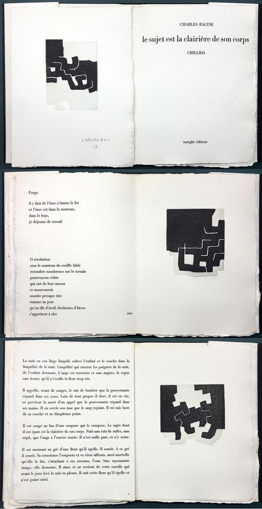 Libro Illustrato Chillida - LE SUJET EST LA CLAIRIÈRE DE SON CORPS. Poèmes de Jean Racine