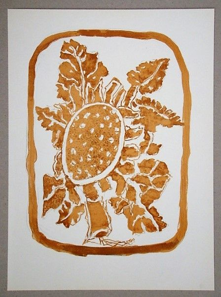 Litografia Braque (After) - Le Tournesol