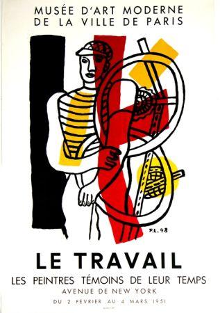 Litografia Leger - Le Travail  Musee D'Art Moderne