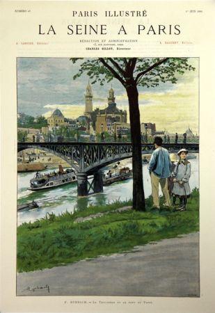 Litografia Grasset - Le Trocadero et le Pont de Passy