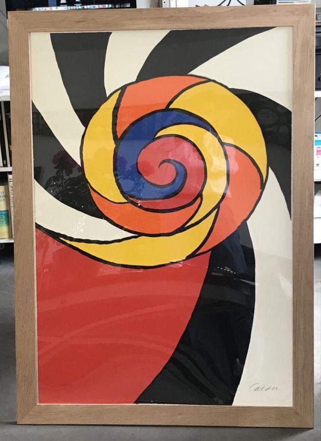 Litografia Calder - Le turban , 1969