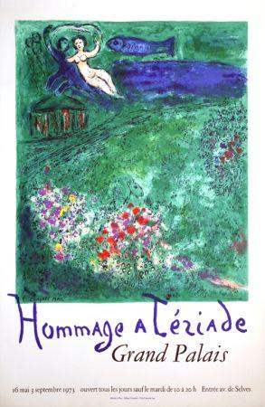 Litografia Chagall - Le Verger Hommage À Terriade