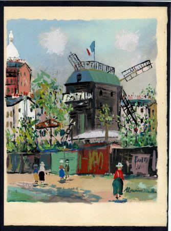 Libro Illustrato Utrillo - LE VILLAGE INSPIRÉ. Avec 12 gouaches par Maurice Utrillo (1954).