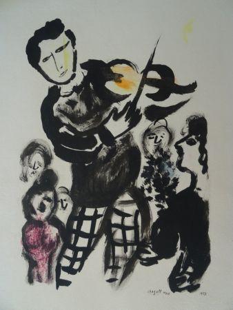 Pochoir Chagall - Le Violoniste