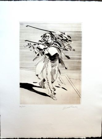 Incisione Weisbuch - Le Violoniste