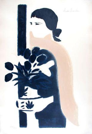 Litografia Brasilier - L'Echarpe Rose