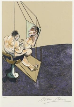 Litografia Bacon - Left panel from Three Studies of the Male Back)