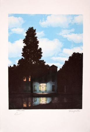 Litografia Magritte - L'Empire des Lumières - The Empire of Light
