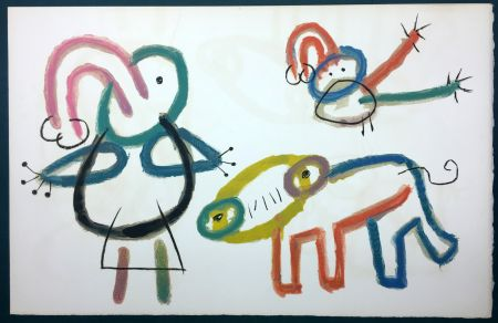 Litografia Miró - L'Enfance d' Ubu. 13ème planche. 1975