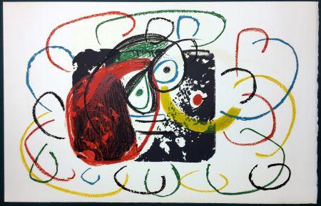 Litografia Miró - L'Enfance d' Ubu. La 21ème et dernière lithographie du cycle d'Ubu par Miro. 1975