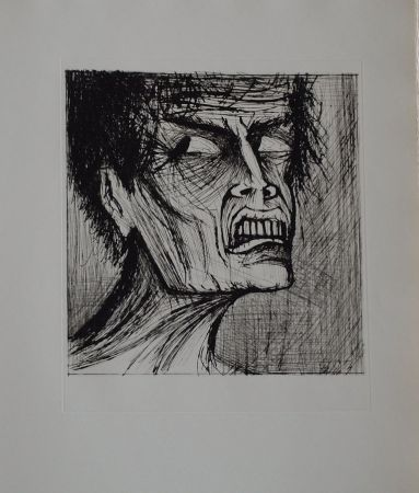 Litografia Buffet - L'enfer de Dante / Angélo