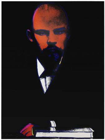 Serigrafia Warhol -  Lenin (Black) (FS II.402)
