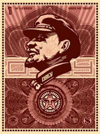 Serigrafia Fairey - Lenin Money
