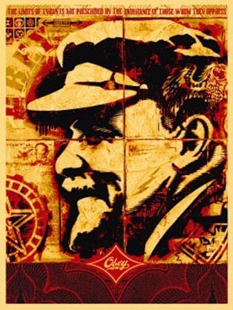 Serigrafia Fairey - Lenin Record
