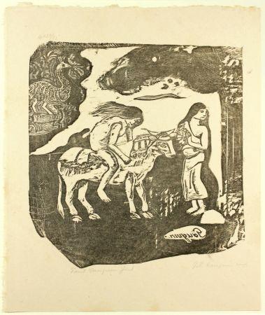 Incisione Su Legno Gauguin - L'Enlèvement d'Europe