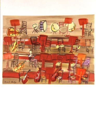 Litografia Dufy - L'Entracte