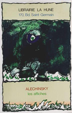 Litografia Alechinsky - Les Affiches  Librairie  à La Hune
