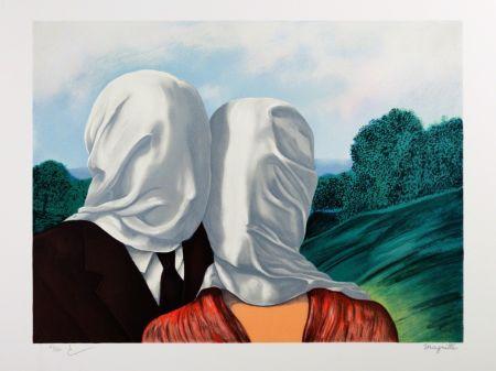 Litografia Magritte - Les Amants