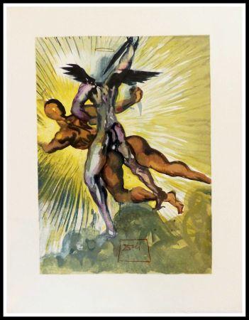 Incisione Su Legno Dali - Les anges gardiens de la vallée