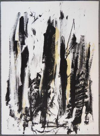 Litografia Mitchell - Les arbres en jaune