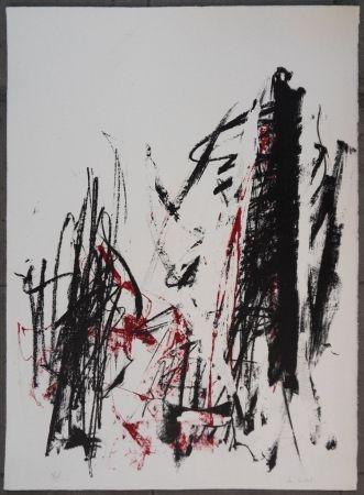 Litografia Mitchell - Les arbres en rouge