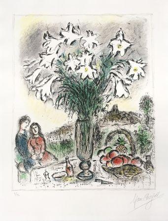 Litografia Chagall - Les Arums