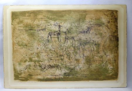 Litografia Zao - Les cerfs