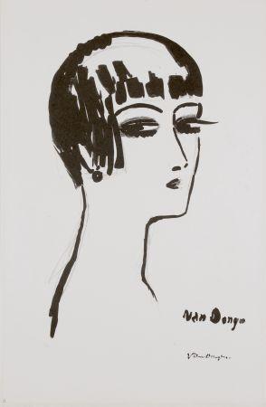 Litografia Van Dongen - Les Cheveux Courts, 1th State