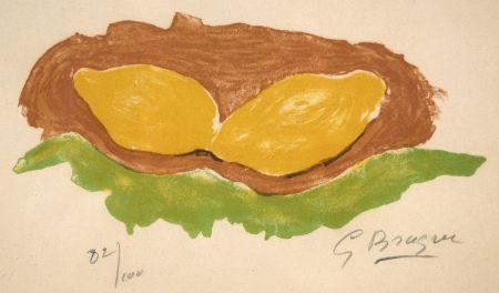 Litografia Braque - Les citrons