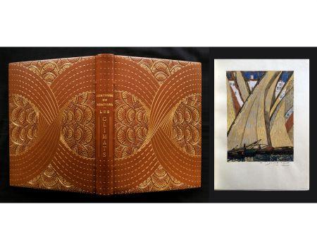 Libro Illustrato Schmied - LES CLIMATS. L'exemplaire de F.-L. Schmied avec gouaches originales, suites signées dans une reliure de Cretté.