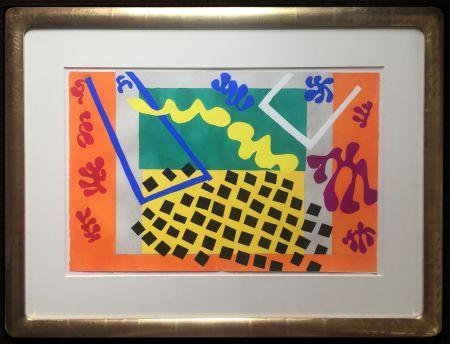 Pochoir Matisse - LES CODOMAS. Pochoir original de Jazz  (Album 1947)