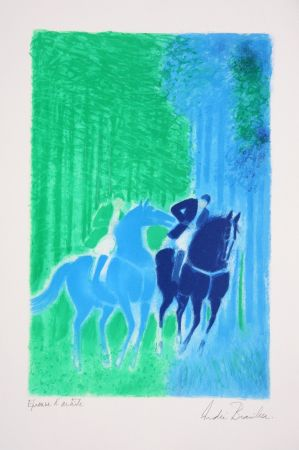 Litografia Brasilier - Les Deux Cavaliers