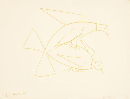 Litografia Picasso - Les deux tourterelles, II