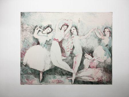 Litografia Laurencin - LES FÊTES DE LA DANSE (Lithographie). 1937.
