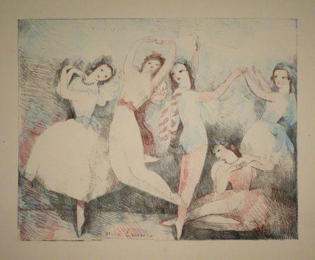 Litografia Laurencin - Les fêtes de la danse