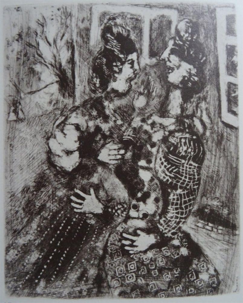 Acquaforte Chagall - Les femmes et le secret