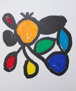 Litografia Ionesco - Les fleurs