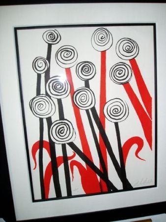 Litografia Calder - Les Fleurs