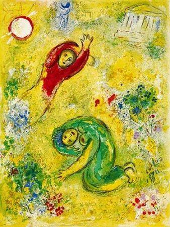 Litografia Chagall - Les fleurs saccagées