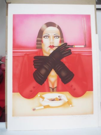 Litografia Okshteyn - Les gants noirs