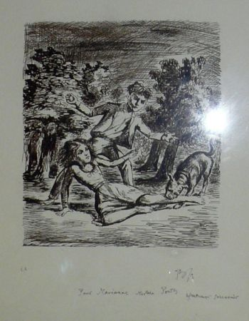 Litografia Balthus - Les hauts de hurlevent