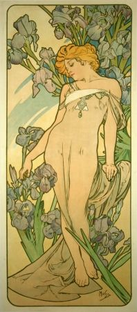 Litografia Mucha - Les Iris