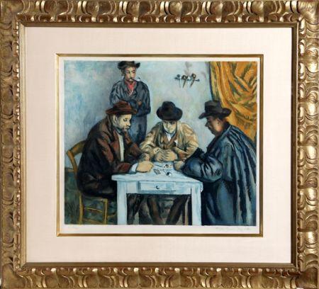 Acquatinta Villon - Les Joueurs des Cartes (The Card Players) after Cezanne