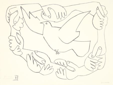 Litografia Picasso - Les mains liées III