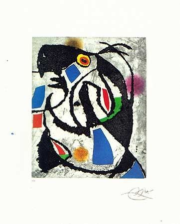 Incisione Miró - Les montagnards