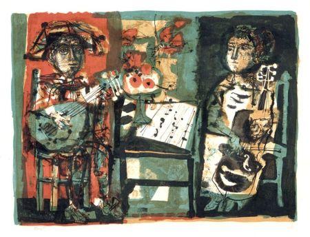 Litografia Clavé - Les musiciens